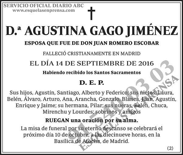 Agustina Gago Jiménez